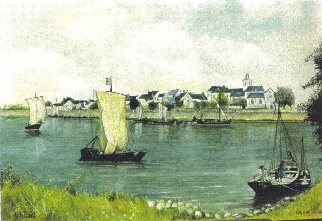 Chouzé vers 1880 - peinture huile sur bois